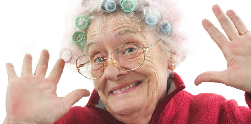 old funny lady
