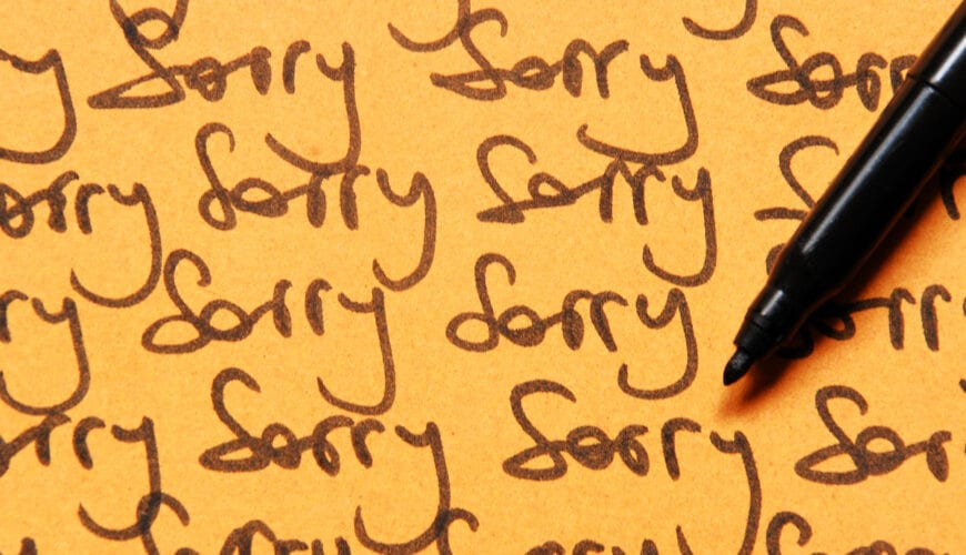 Is het je weleens opgevallen hoe vaak we sorry zeggen?