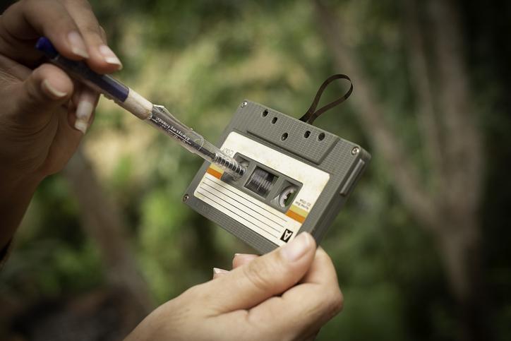 cassettebandjes waren eigenlijk heel leuk